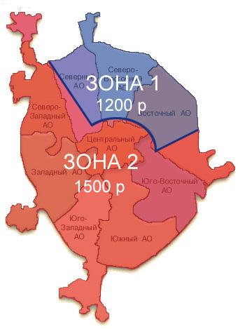 Доставка, схема Москвы